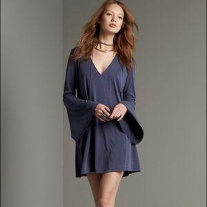 Lush Bell Sleeve Swing Dress